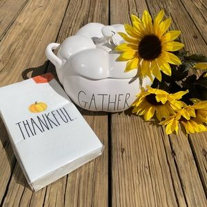 Rae Dunn Accents - New Rae Dunn Gather Canister and Napkins